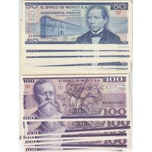 Mexico 50 & 100 pesos 1981 (20 + 9) 29 pcs