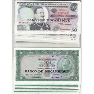 Mozambique 50 & 100 escudos 1976 (67 pcs)