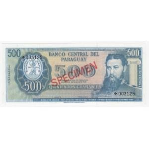 Paraguay 500 guaranies 1979 - Specimen