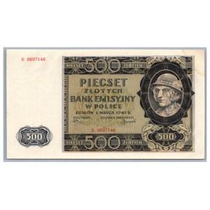 Poland 500 zlotych 1940