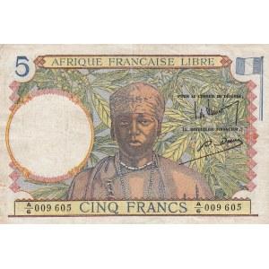 French Equatorial Africa 5 francs 1941