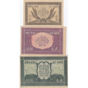 French Indochina 10,20,50 cents 1942