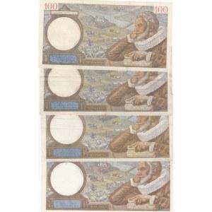 France 100 francs 1939-42 (4 pcs)
