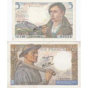 France 5 & 10 francs 1943