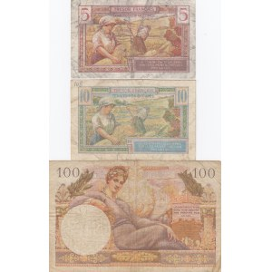 France 5,10 francs 1947 & 100 francs 1955