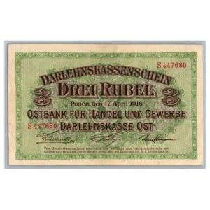 Germany - Posen 3 roubles 1916