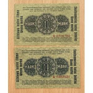 Germany - Lithuania Kowno (Kaunas) 1 mark 1918 (2)
