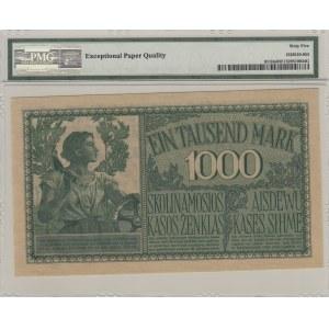 Germany - Lithuania Kowno (Kaunas) 1000 mark 1918 - PMG 65