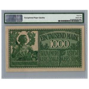 Germany - Lithuania Kowno (Kaunas) 1000 mark 1918 - PMG 65 EPQ