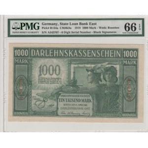 Germany - Lithuania Kowno (Kaunas) 1000 mark 1918 - PMG 66