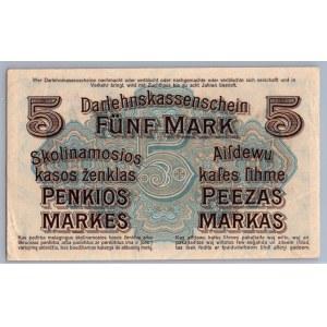 Germany - Lithuania Kowno (Kaunas) 5 mark 1918