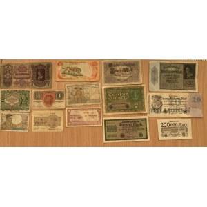 Germany, Vietnam, Indochina, France, Austria, Hungary paper money (14)