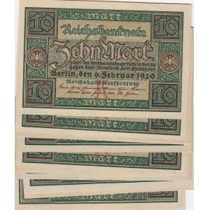 Germany 10 mark 1920 (17 pcs)