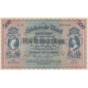 Germany 500 mark 1922 Saxony