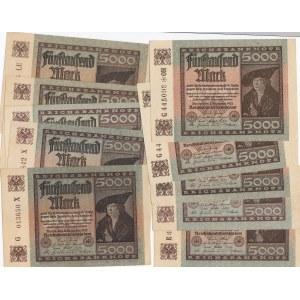 Germany 5000 mark 1922 (5 + 5 pcs)