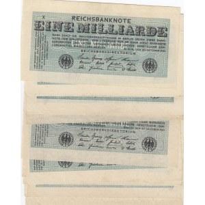 Germany 1 000 000 000 mark 1923 (16 pcs)