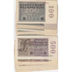 Germany 100 & 500 000 000 mark 1923 (15+17 pcs)