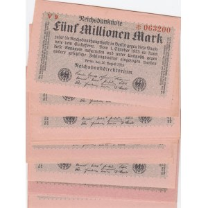 Germany 5 000 000 mark 1923 (20 pcs)