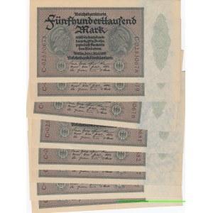 Germany 500 000 mark 1923 (8 pcs)