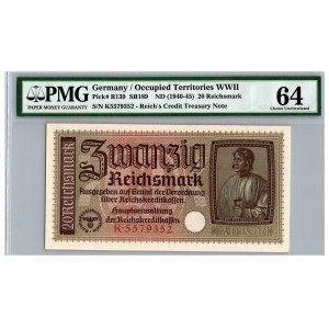 Germany 20 reichsmark 1940-1945 - PMGC 64