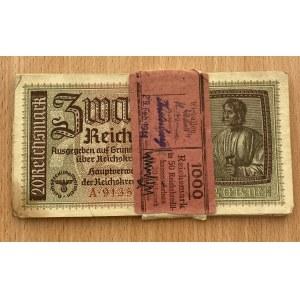 Germany 20 reichsmark 1940-1945 bundle