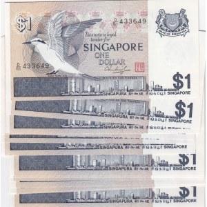 Singapore 1 dollar 1976 (17 pcs)