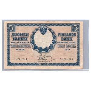 Finland 5 markkaa 1909