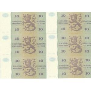Finland 10 markka 1980 (6 pcs)