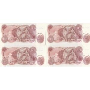 Great Britain 10 shillings 1962-66 (4 pcs)