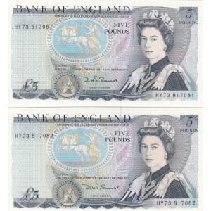 Great Britain 5 pounds 1971-91 (2 pcs)