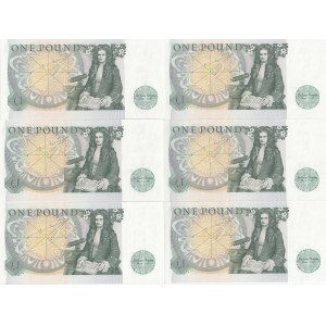 Great Britain 1 pound 1978-84 (6 pcs)
