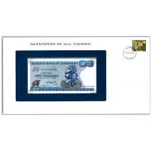 Zimbabwe 2 dollars 1980
