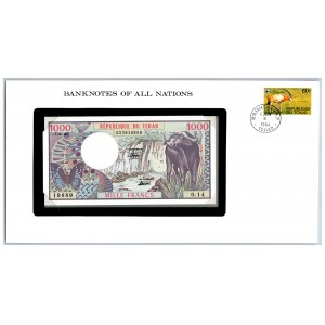 Chad 1000 francs 1980