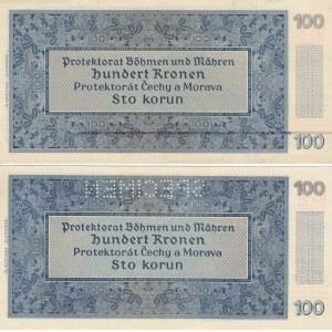 Bohemia & Moravia 100 kr 1940 (reg & specim)