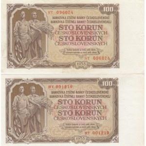 Czechoslovakia 100 korun 1953 + 1953 - specimen