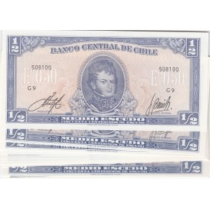 Chile 1/2 escudos 1962 (15 pcs)