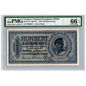 Ukraine / German occupation 100 karbowanez 1942 - PMG 66 EPQ