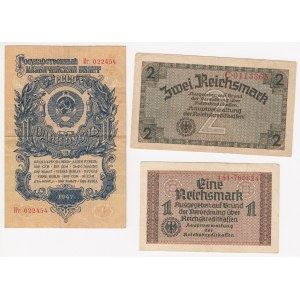 Russia, Germany lot of paper money 1940-1957 (3)