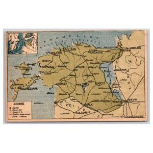 Postcard Estonia  Map of Estonia