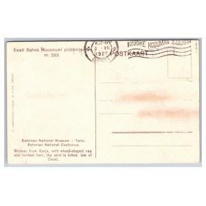 Postcard Estonia Estonian National Museum, Karja Saaremaa costume