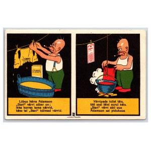 Postcard Estonia Washing Powder Star