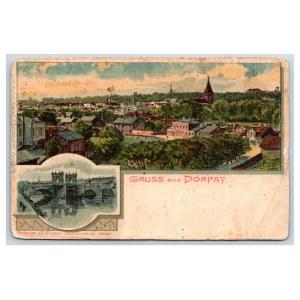 Postcard Estonia Dorpat (Tartu) Dorpat, Stone Bridge