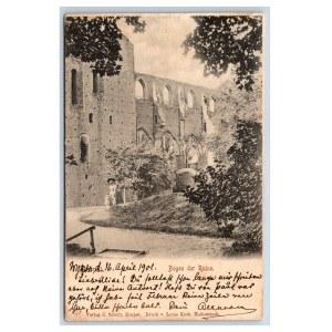 Postcard Estonia Dorpat (Tartu) Church ruins