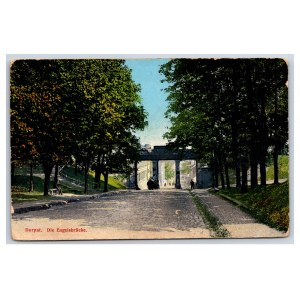 Postcard Estonia Dorpat (Tartu) Angel's Bridge
