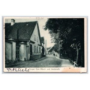 Postcard Estonia Dorpat (Tartu) Jacob street