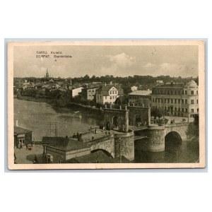 Postcard Estonia Dorpat (Tartu) Stone Bridge