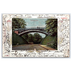 Postcard Estonia Dorpat (Tartu) Devil´s bridge