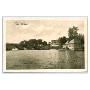 Postcard Estonia Dorpat (Tartu) Wooden bridge
