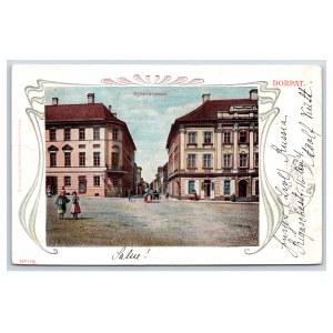 Postcard Estonia Dorpat (Tartu) Knight's street