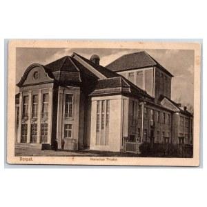 Postcard Estonia Dorpat (Tartu) German Theater